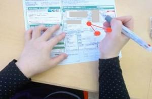 帳票記入時の視線計測調査