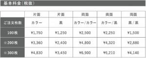 LIMEX 名刺価格1